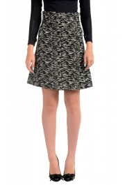 Just Cavalli Women's Multi-Color Wool Textured A-Line Skirt