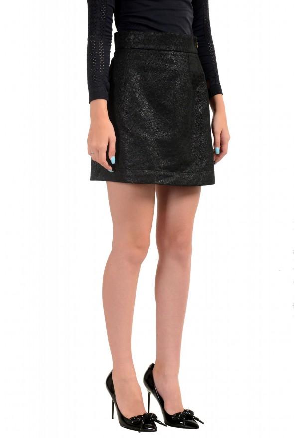 Just Cavalli Women's Black Textured A-Line Mini Skirt: Picture 2