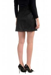 Just Cavalli Women's Black Textured A-Line Mini Skirt: Picture 3