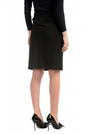 Just Cavalli Women's Black Textured Straight Pencil Skirt: Picture 3