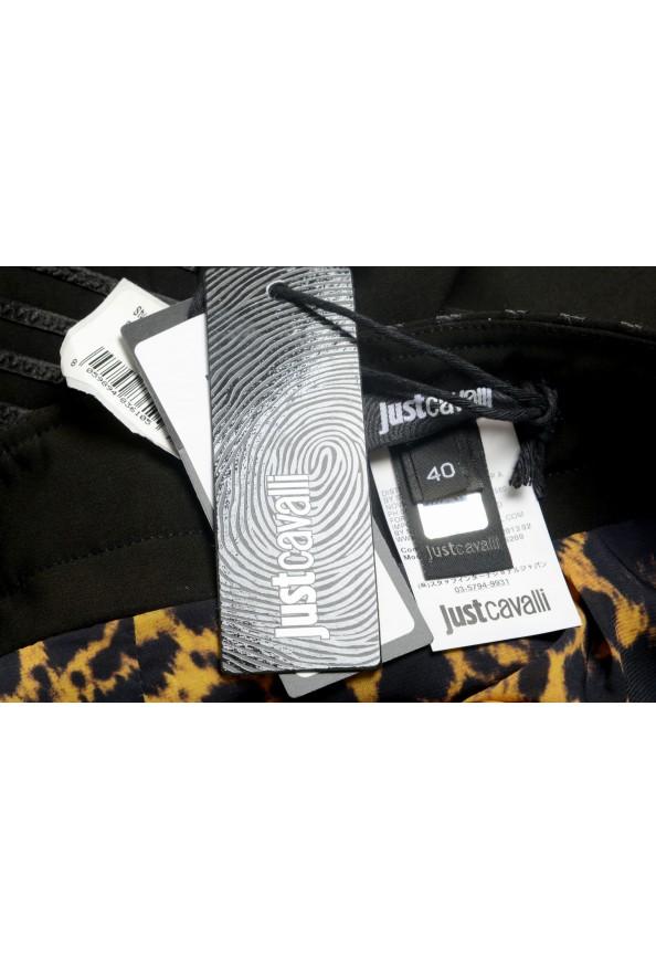 Just Cavalli Women's Black Textured Straight Pencil Skirt: Picture 5