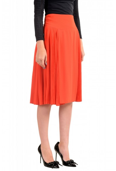 Just Cavalli Women's Red Pleated A-Line Skirt: Picture 2