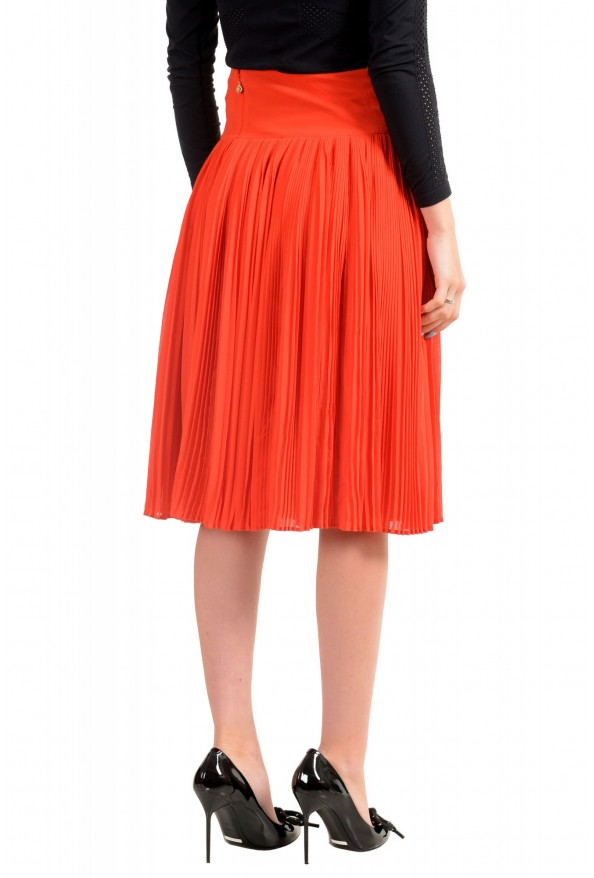 Just Cavalli Women's Red Pleated A-Line Skirt: Picture 3