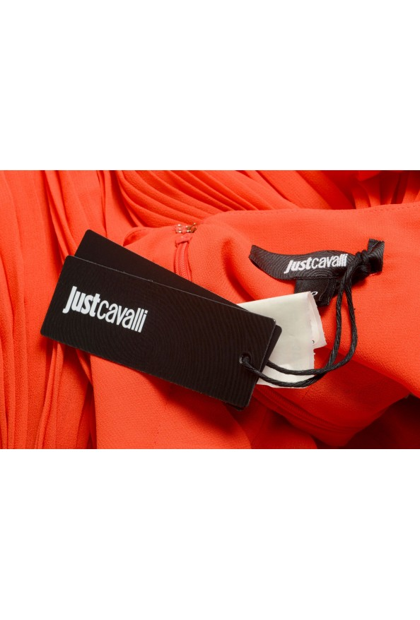 Just Cavalli Women's Red Pleated A-Line Skirt: Picture 5
