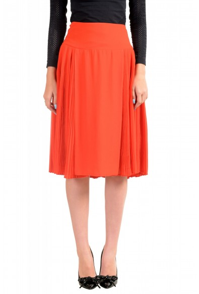 Just Cavalli Women's Red Pleated A-Line Skirt