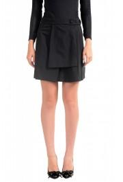 Just Cavalli Women's Black A-Line Mini Skirt
