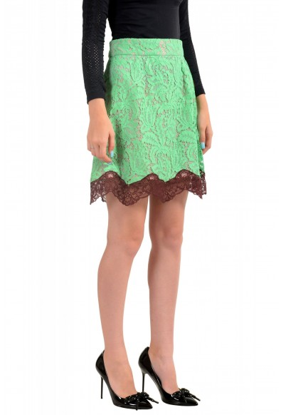 Just Cavalli Women's Multi-Color Lace A-Line Mini Skirt: Picture 2