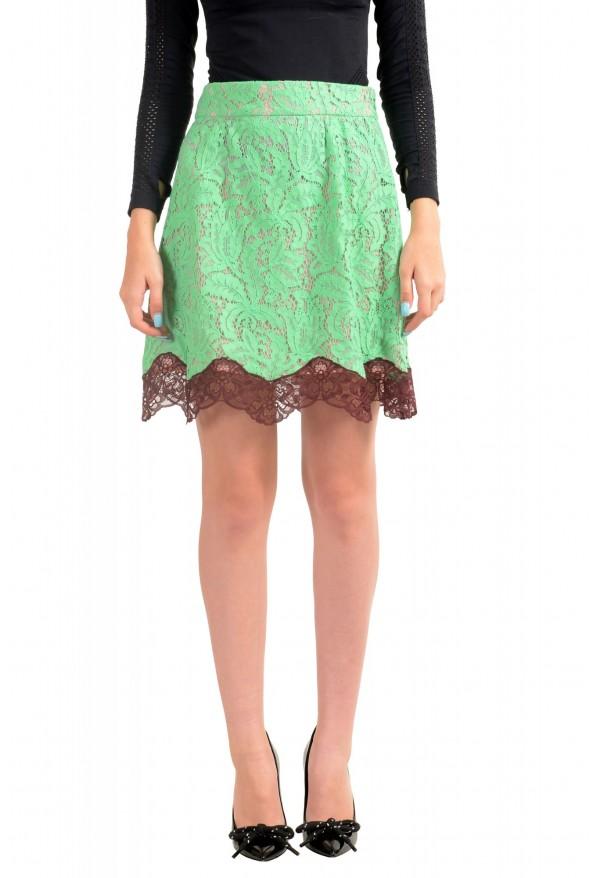 Just Cavalli Women's Multi-Color Lace A-Line Mini Skirt