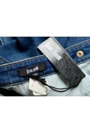 Just Cavalli Women's Blue Distressed Look Denim Mini Skirt: Picture 5