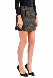 Dsquared2 Women's Gray Wool Silk Mohair Mini A-Line Skirt: Picture 2