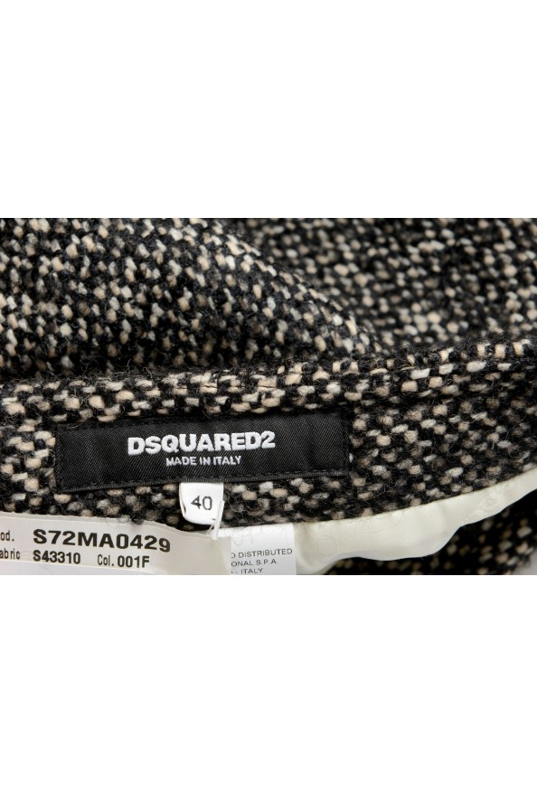 Dsquared2 Women's Gray Wool Silk Mohair Mini A-Line Skirt: Picture 4