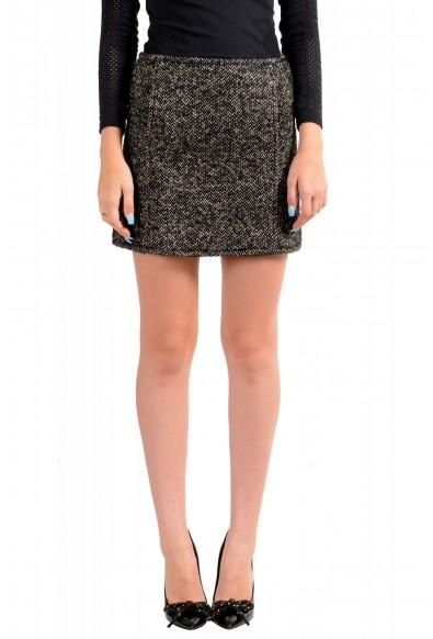 Dsquared2 Women's Gray Wool Silk Mohair Mini A-Line Skirt