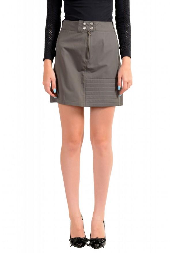 Maison Margiela MM6 Women's Gray Mini A-Line Skirt