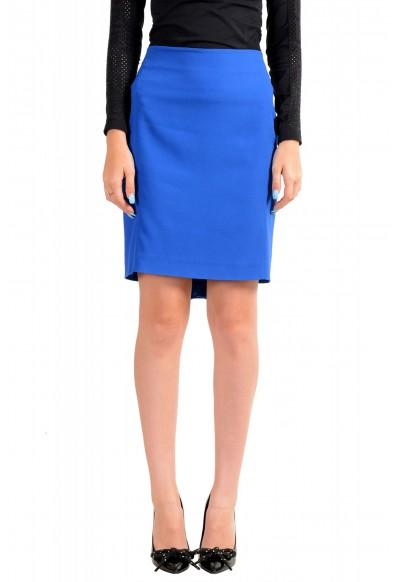 Viktor & Rolf Women's Royal Blue Pencil Straight Skirt