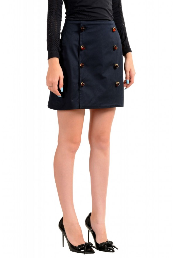 Dsquared2 Women's Navy Blue Mini A-Line Skirt: Picture 2