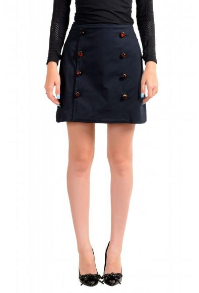 Dsquared2 Women's Navy Blue Mini A-Line Skirt