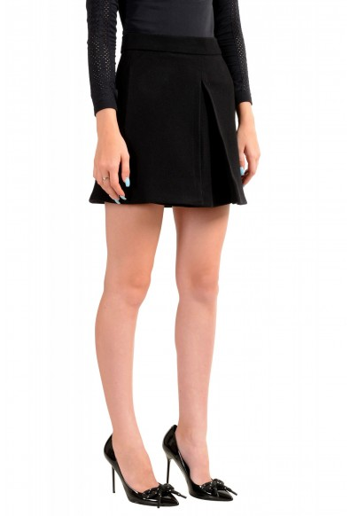 Dsquared2 Women's Black Wool Pleated Mini A-Line Skirt: Picture 2