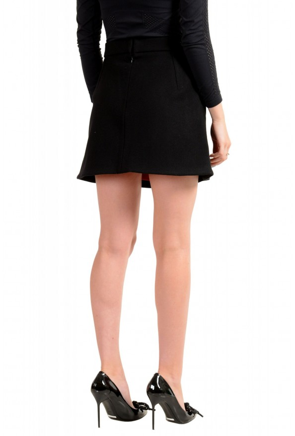 Dsquared2 Women's Black Wool Pleated Mini A-Line Skirt: Picture 3