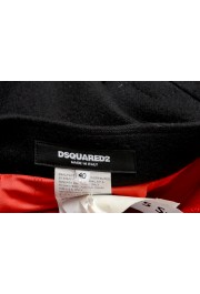 Dsquared2 Women's Black Wool Pleated Mini A-Line Skirt: Picture 4