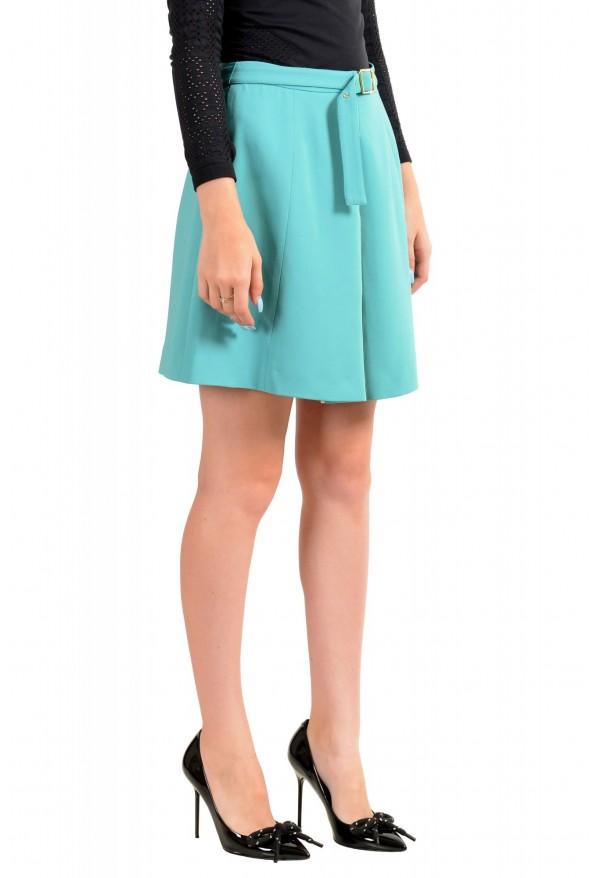 Just Cavalli Women's Light Blue Belted Mini Skirt : Picture 2