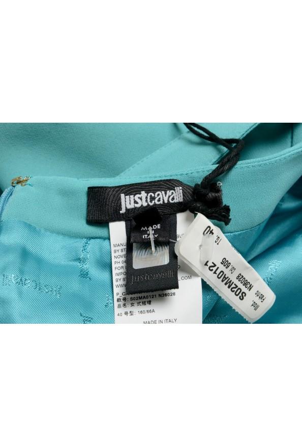 Just Cavalli Women's Light Blue Belted Mini Skirt : Picture 4