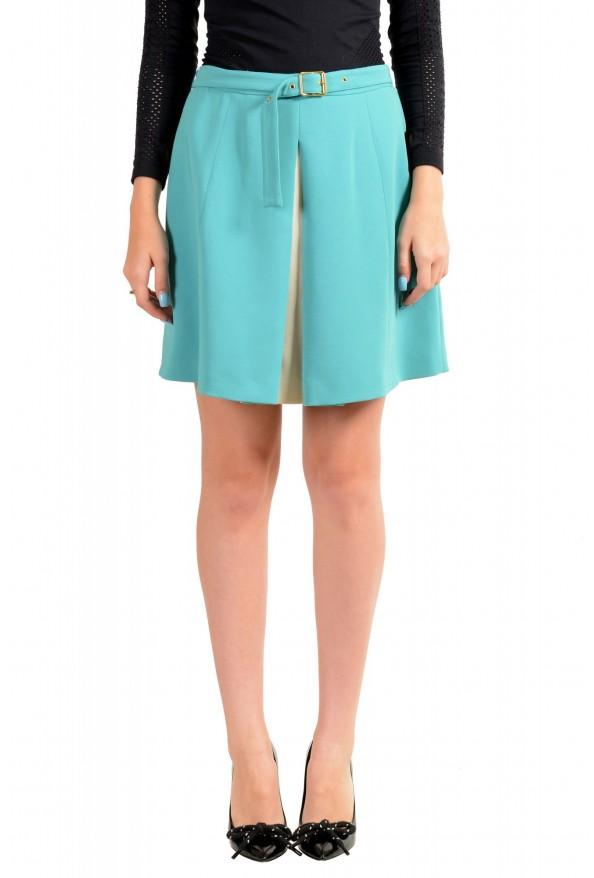 Just Cavalli Women's Light Blue Belted Mini Skirt