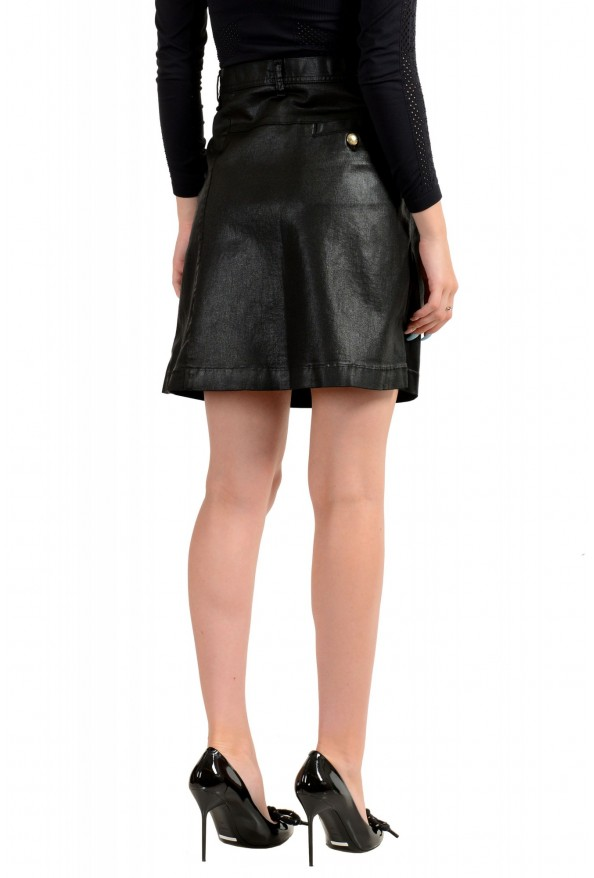 Just Cavalli Women's Black Coated A-Line Mini Skirt : Picture 3