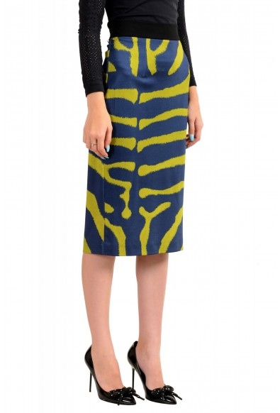 Just Cavalli Women's Multi-Color Animal Print Stretch Bodycon Skirt : Picture 2