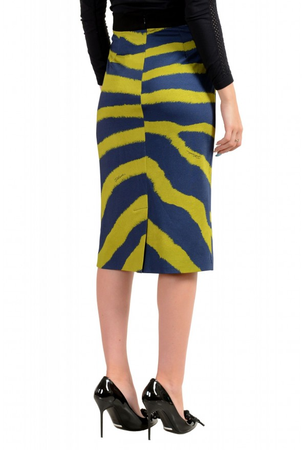 Just Cavalli Women's Multi-Color Animal Print Stretch Bodycon Skirt : Picture 3