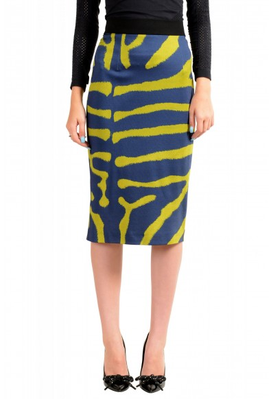 Just Cavalli Women's Multi-Color Animal Print Stretch Bodycon Skirt