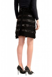 Just Cavalli Women's Black Sequins Embellished A-Line Skirt: Picture 3