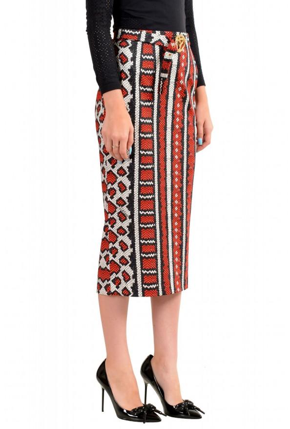 Just Cavalli Women's Multi-Color Animal Print Stretch Midi Skirt : Picture 2
