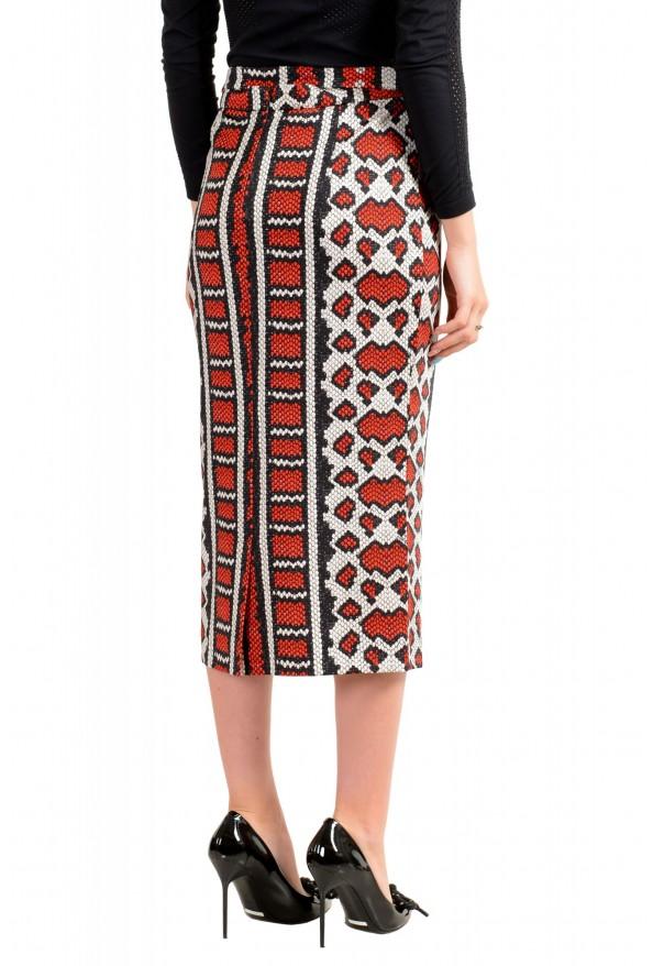 Just Cavalli Women's Multi-Color Animal Print Stretch Midi Skirt : Picture 3