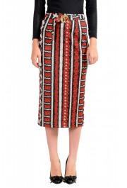 Just Cavalli Women's Multi-Color Animal Print Stretch Midi Skirt