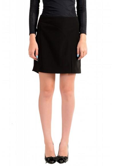 Versus by Versace Women's Black Mini A-Line Skirt