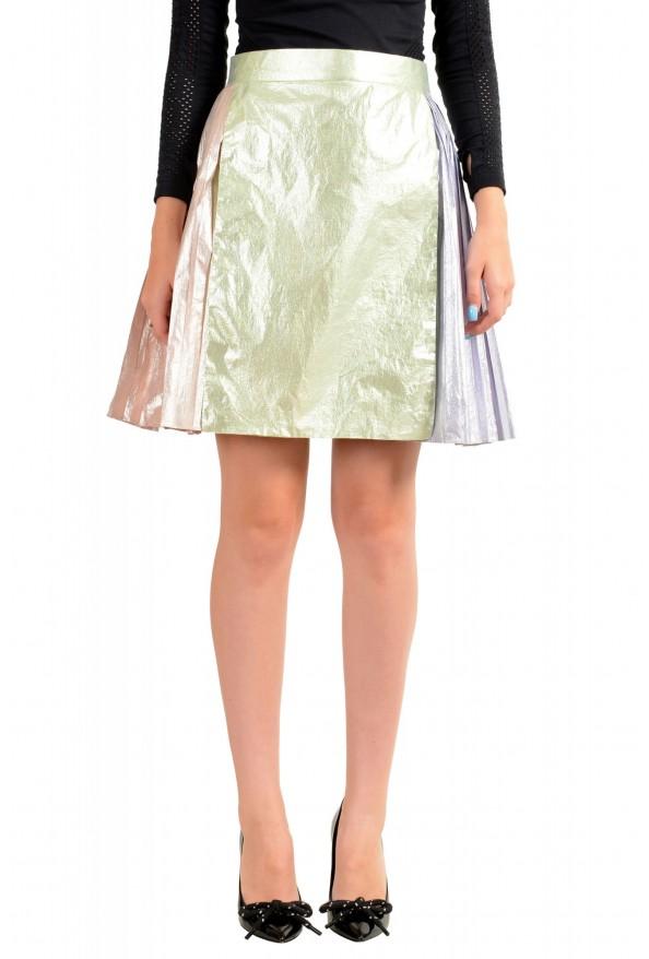 Just Cavalli Women's Multi-Color Pleated A-Line Skirt