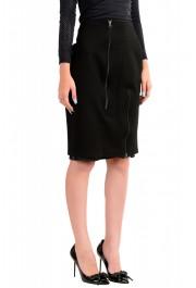 Maison Margiela MM6 Women's Black Straight Pencil Skirt: Picture 2