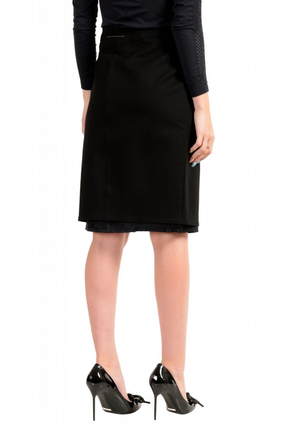 Maison Margiela MM6 Women's Black Straight Pencil Skirt: Picture 3