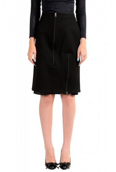 Maison Margiela MM6 Women's Black Straight Pencil Skirt