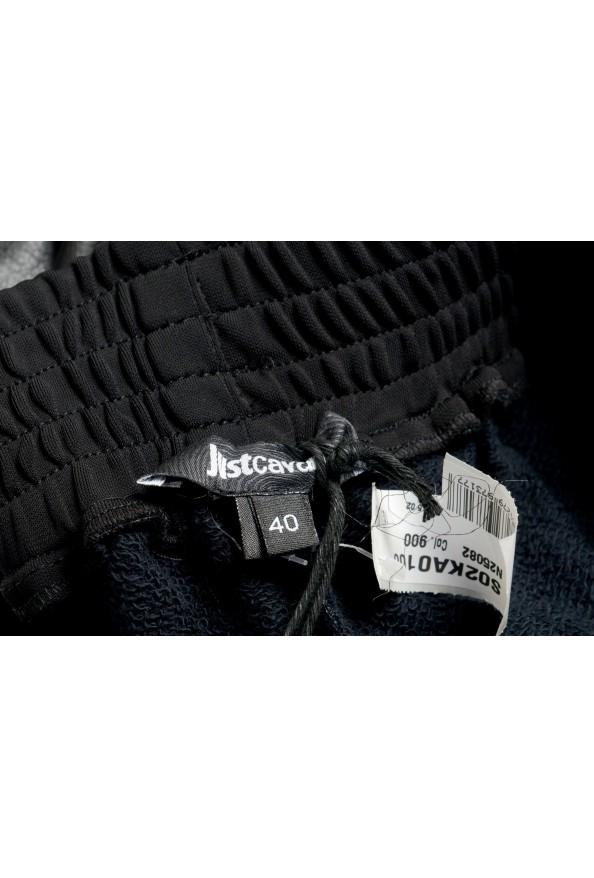 Just Cavalli Women's Black Elastic Waist Faux Leather Casual Pants: Picture 4