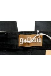 John Galliano Women's Off Black Floral Print Straight Leg Jeans : Picture 4