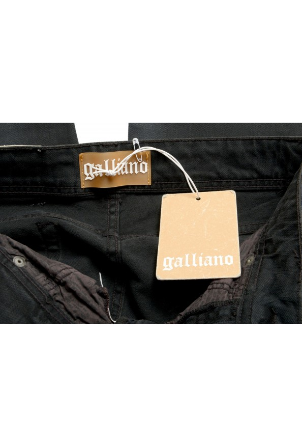 John Galliano Women's Off Black Floral Print Straight Leg Jeans : Picture 5