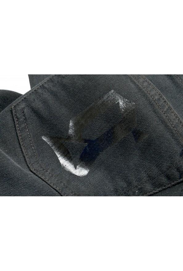 John Galliano Women's Off Black Floral Print Straight Leg Jeans : Picture 6