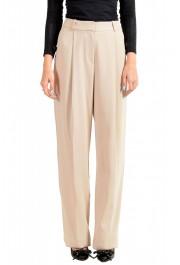 """Hugo Boss Women's """"Arula"""" Beige Pleated Dress Pants"""