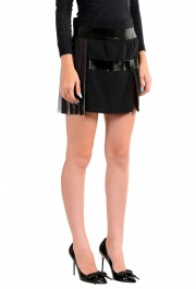 Just Cavalli Women's Black & White Pleated Mini A-Line Skirt: Picture 2