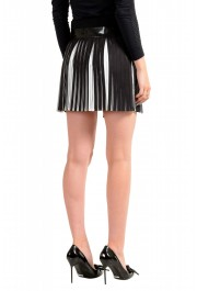 Just Cavalli Women's Black & White Pleated Mini A-Line Skirt: Picture 3