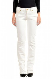 Just Cavalli Women's White Straight Leg Jeans