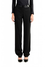 Maison Margiela Women's Black Wool Flat Front Dress Pants