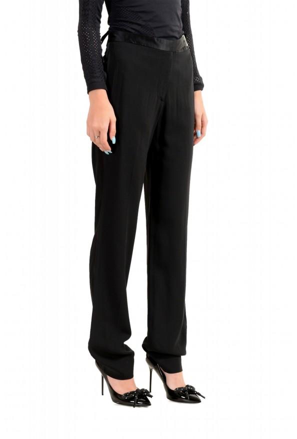 Maison Margiela Women's Black Wool Flat Front Dress Pants: Picture 2