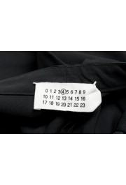 Maison Margiela Women's Black Wool Flat Front Dress Pants: Picture 4
